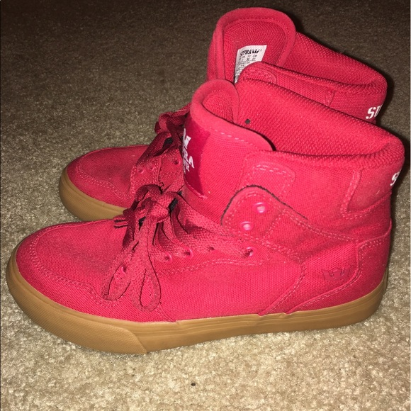 Red High Top Supra Sneakers | Poshmark